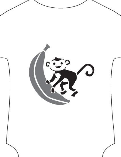 monkey stencil